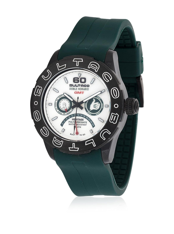 Bultaco H1Pb43H-Cw1 - Reloj Policarbonato Correa Silicona Verde/Blanco: Amazon.es: Relojes