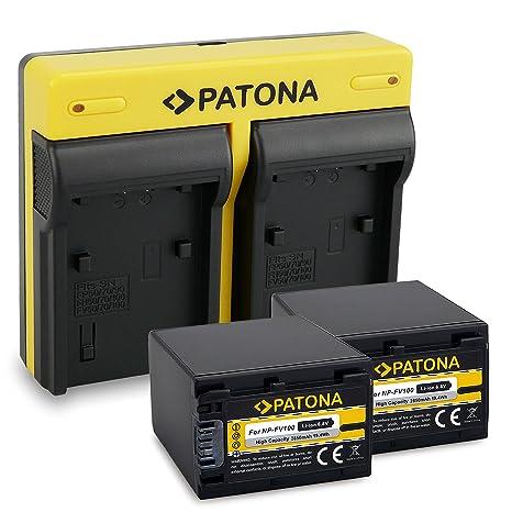 PATONA Dual Cargador Sony NP-FV100 con micro USB + 2x ...