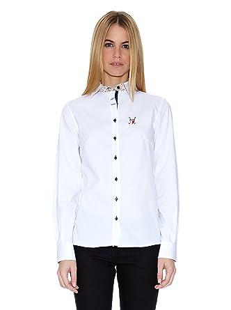 POLO CLUB Camisa Mujer 307 Blanco ES 36: Amazon.es: Ropa y accesorios