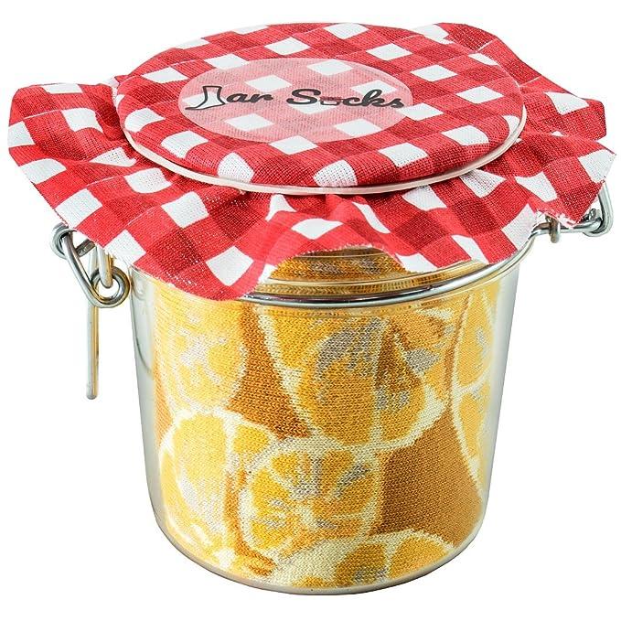 JAR SOCKS - 2 pares de Calcetines de Tarro en forma de Limones y Guisantes con