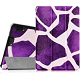 "Fintie Amazon Kindle Fire HDX 7 SmartShell Case - Ultra Slim Lightweight Stand Cover with Auto Sleep / Wake for Kindle Fire HDX 7"" (3rd generation - 2013 release), Giraffe Purple"
