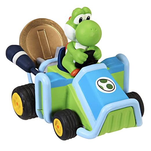 Super Mario Kart Yoshi Auto Mit Münze Spielauto Amazonde Spielzeug