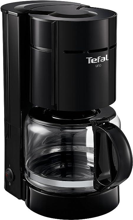 Tefal cm1218 Uno Cafetera Eléctrica, 1.1 L), color negro: Amazon.es: Hogar