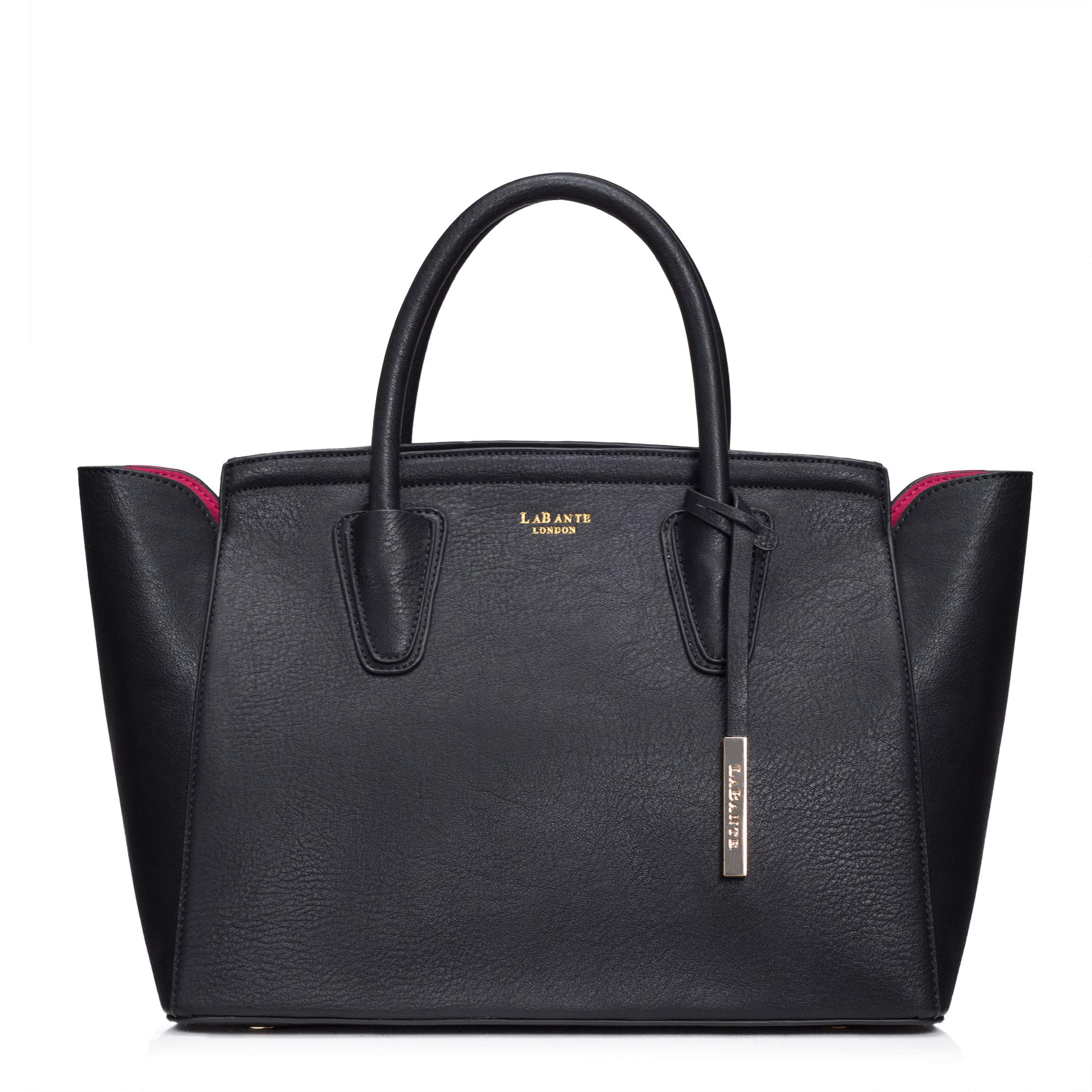 LaBante London 'Grant' Vegan Leather Carryall Laptop Bag for Women (Black)