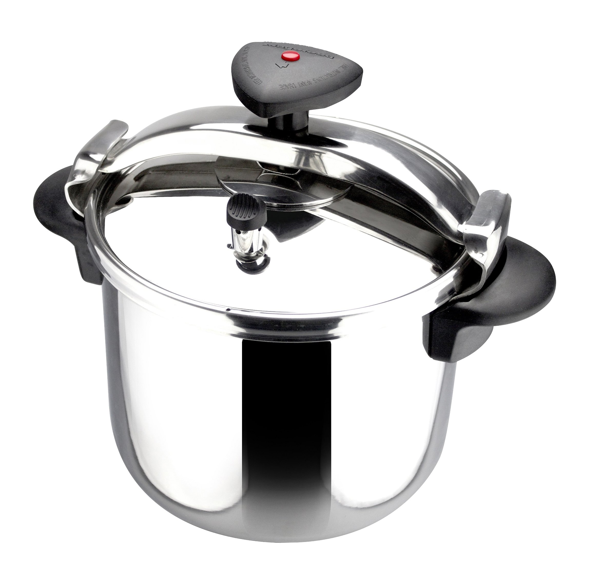 Magefesa 12 quart Star R Stainless Steel Fast Pressure Cooker, Large, Silver