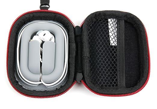 DURAGADGET Funda/estuche rígida color negro y rojo para auriculares Marshall Mode Android, Mode EQ Android, Mode EQ, Mode/Mixcder ANC G5, Flyto Blue, ...