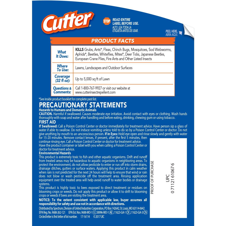 Amazon.com : Cutter Backyard Bug Control Spray Concentrate (HG-61067 ...