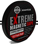 2017 Strongest Extreme Magnetic Tape for Holding Tools, Knives, Turn Any Surface Into an Organization Space Residue Free [1/2 Inch x 10ft Roll]