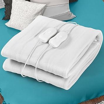 Jago - Manta eléctrica calientacamas 2 x 65-75 W - aprox. 150 x 180 cm - dimensiones y voltaje a elegir: Amazon.es: Salud y cuidado personal