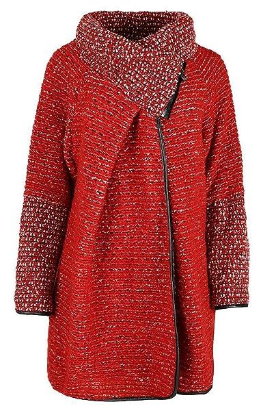 GG señoras para mujer italiana Lagenlook Peculiar Capa de lana Zip manga larga Cocoon chaqueta de la capa del poncho del cabo de gran tamaño: Amazon.es: ...