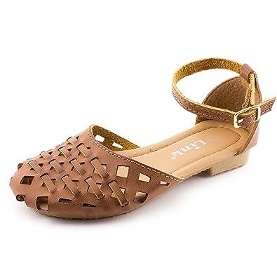 52094f848f83 Link Ankle Hook Buckle Gladiator Flat Sandals
