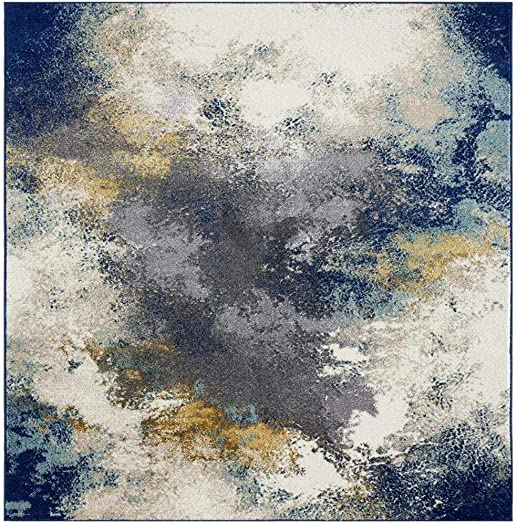 Luxe Weavers Abstract Blue 5×7 Area Rug