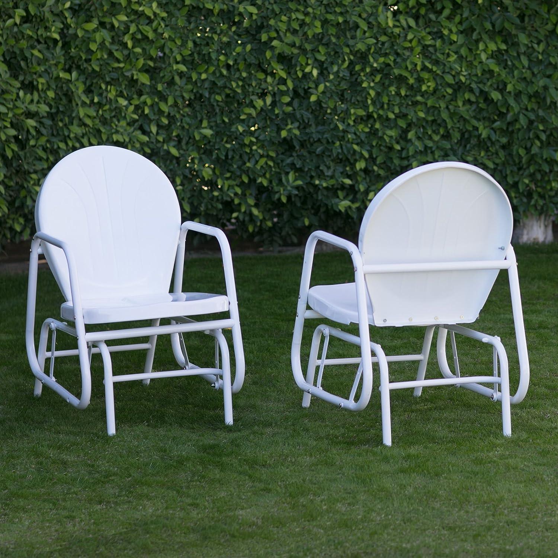Amazon Coral Coast Vintage Retro Outdoor Glider Chair