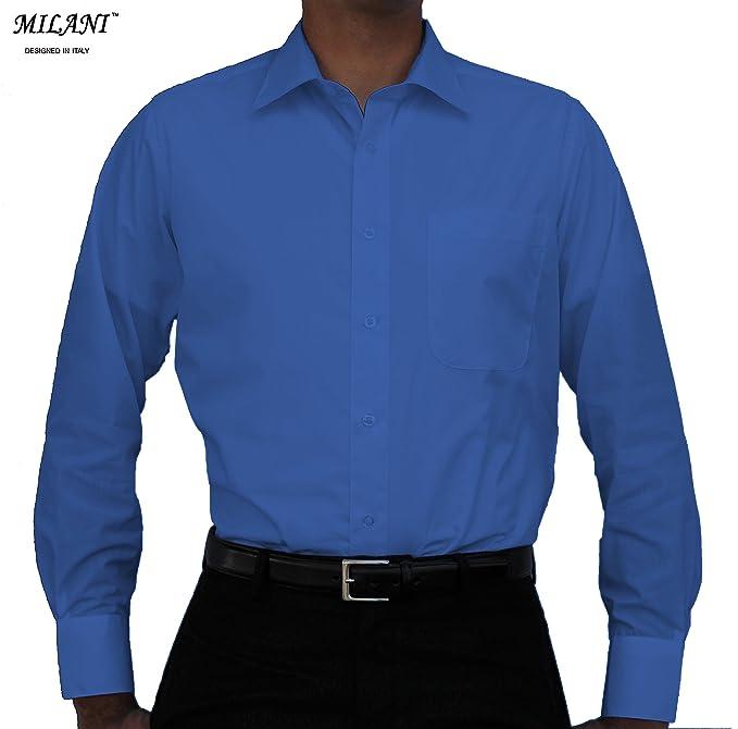 Milani Men's Dress Shirt with Standard Cuffs 18.5