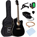 Best Choice Products 41in Beginner Acoustic Guitar Full Size All Wood Cutaway Guitar Starter Set Bundle with Case, Strap, Cap
