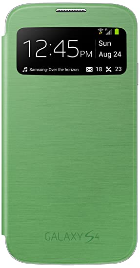 Samsung EF-CI950BBEGIN Side View Cover for Galaxy S4 (Green) Mobile Phone Cases & Covers at amazon