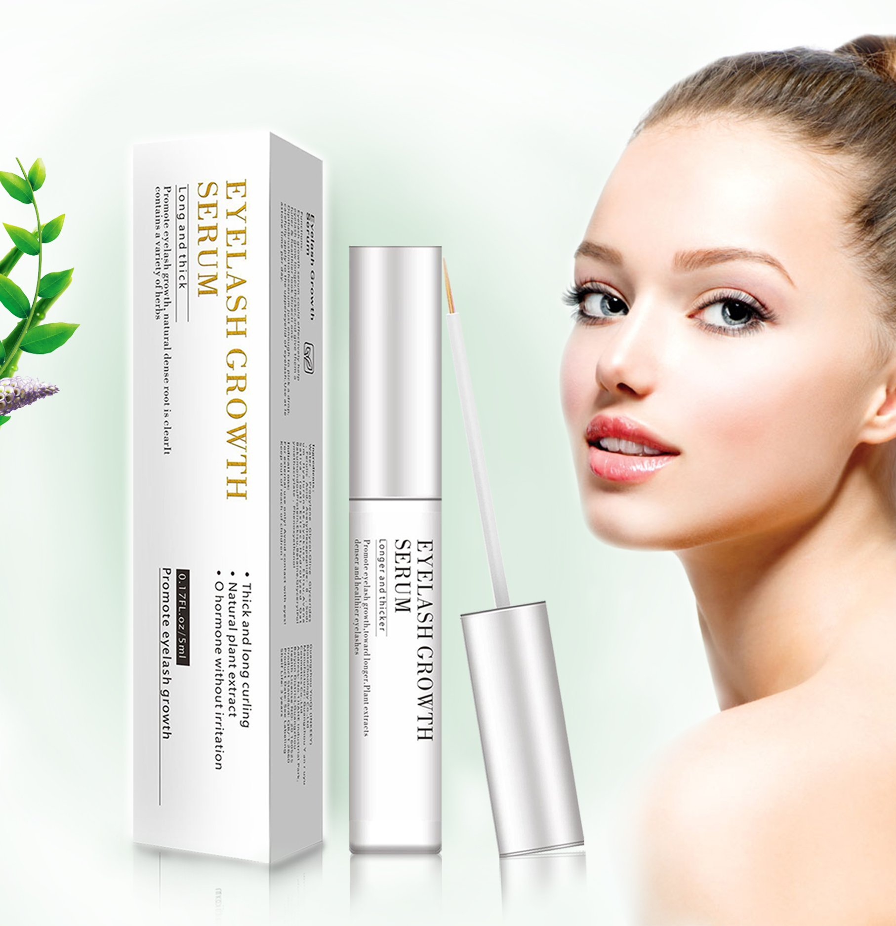 Eyelash Growth Serum-2018 Upgrade Lash Boost&Eyebrow Growth Serum with Natural Exacts for Longer Thicker Eyelash and Brow, Lash Enhancer Nourish Damaged Lashes to Restore Health and Boost Rapid Growth