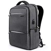 Inateck Mochila para portátiles Laptop, hasta 15,6 Pulgadas Backpack para Ordenador del Negocio Trabajo Diario, Viaje, Escolar. con Enchufe Carga USB y protección Anti-Lluvia Impermeable