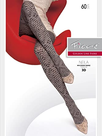 809f1783efb Fiore Neila 60 denier Ladies Women Tights Opaque Pattern Ideal for Autumn  or Winter S M L (Large 4
