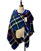 Women's Cozy Tartan Blanket Scarf Wrap Shawl Neck Stole Warm Plaid Checked Pashmina