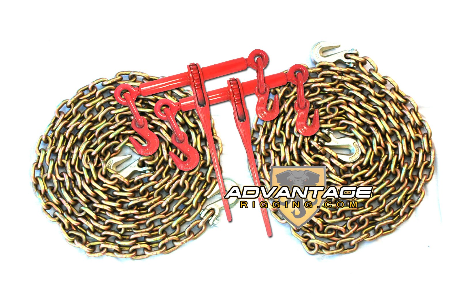 3/8'' Transport Package - (2) Ratchet Binders - (2) 20' Foot Chains