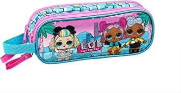 LOL Surprise Hearts Estuche portatodo Doble 2 Cremalleras Escolar
