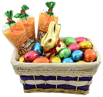 Amazon elegant easter gift basket 20 cemoi chocolate elegant easter gift basket 20 cemoi chocolate easter eggs lindt easter gold bunny 7 negle