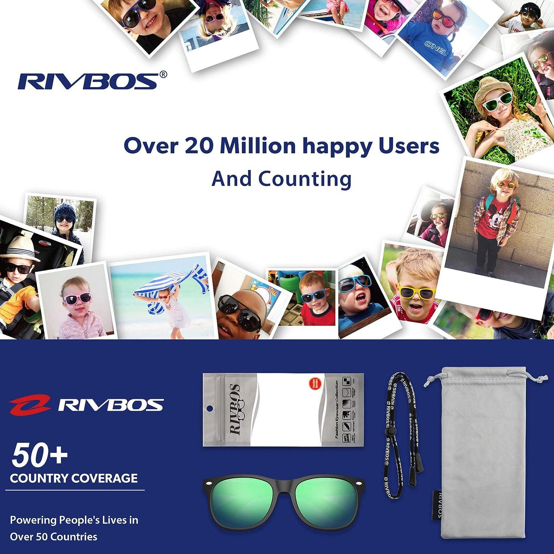 81489295f3 RIVBOS RBK004 - Gafas de Sol polarizadas de Goma para niños y niñas (3-10  años): Amazon.es: Deportes y aire libre