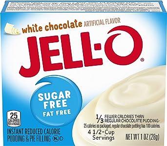 Jell-O - Mezcla de pudín instantánea de chocolate blanco sin azúcar Caja de 1 onza (paquete de 6): Amazon.es: Alimentación y bebidas