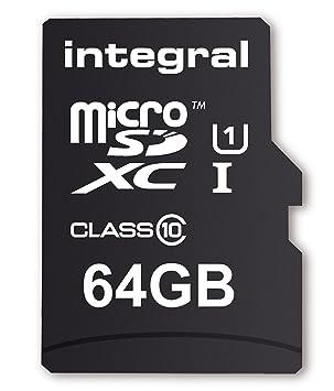 Integral INTF1064GB - Tarjeta de memoria micro SDXC de 64 GB (Clase 10)