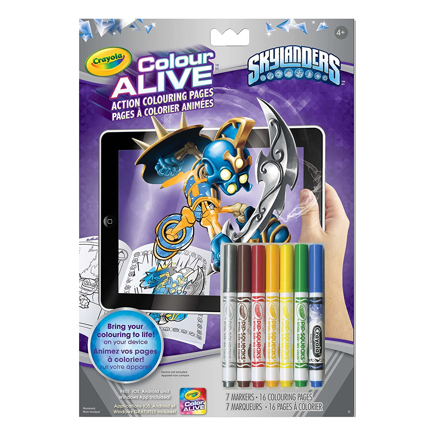 Crayola Colour Alive Action Colouring Pages, Skylanders 04-1180