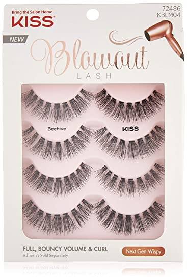 43bb2d2328a Amazon.com: Kiss Blowout Lashes Beehive 4-Pairs: Beauty