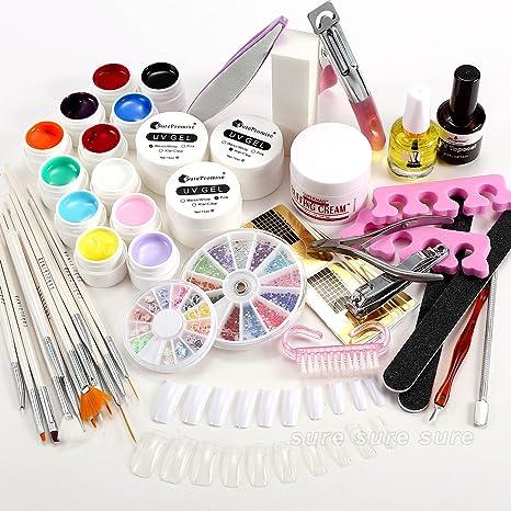 surepromise 23 en 1 Juego Profesional Kit Set Completo de UV Gel + Tips para Arte
