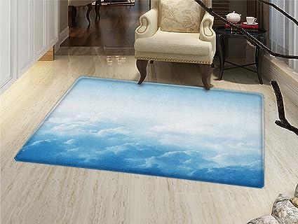 Amazon.com: Reloj Felpudo alfombra pequeña impresión de un ...