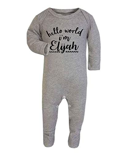Personalised hello world im name babygrow baby vest new baby personalised hello world im name babygrow baby vest new baby gifts newborn baby gifts negle