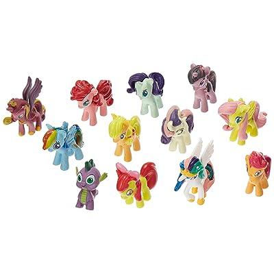 OliaDesign Set of 12 Pony PVC Toy Cake Topper Twilight Sparkle Figure Set: Kitchen & Dining