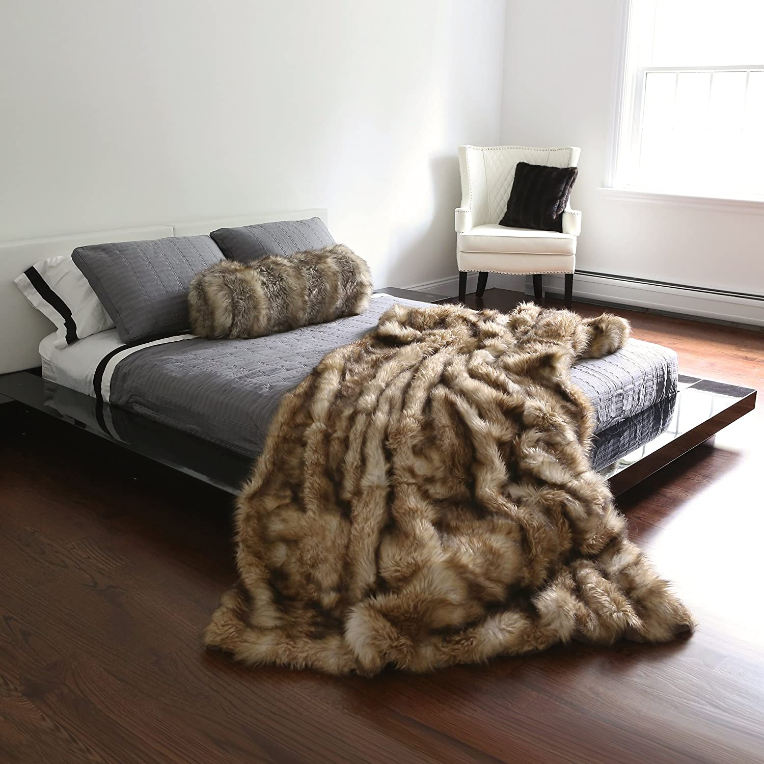 Amazon Best Home Fashion Faux Fur Throw Full Blanket