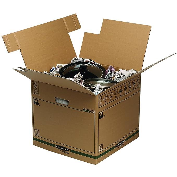 Bankers Box 6205601 - Caja de transporte y mudanza, paquete de 5: Amazon.es: Oficina y papelería