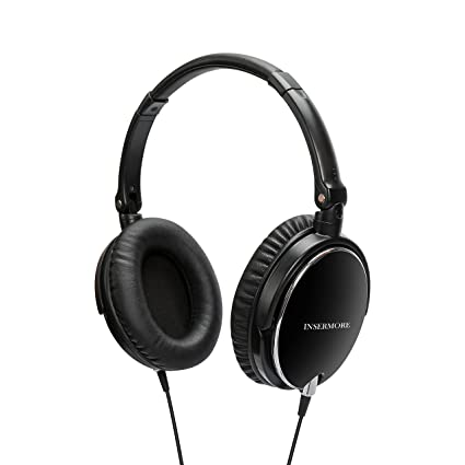 645c816c3cf Active Noise Cancelling Over Ear Headphones with mic,Hi-Fi Stereo Good Bass  Headsets