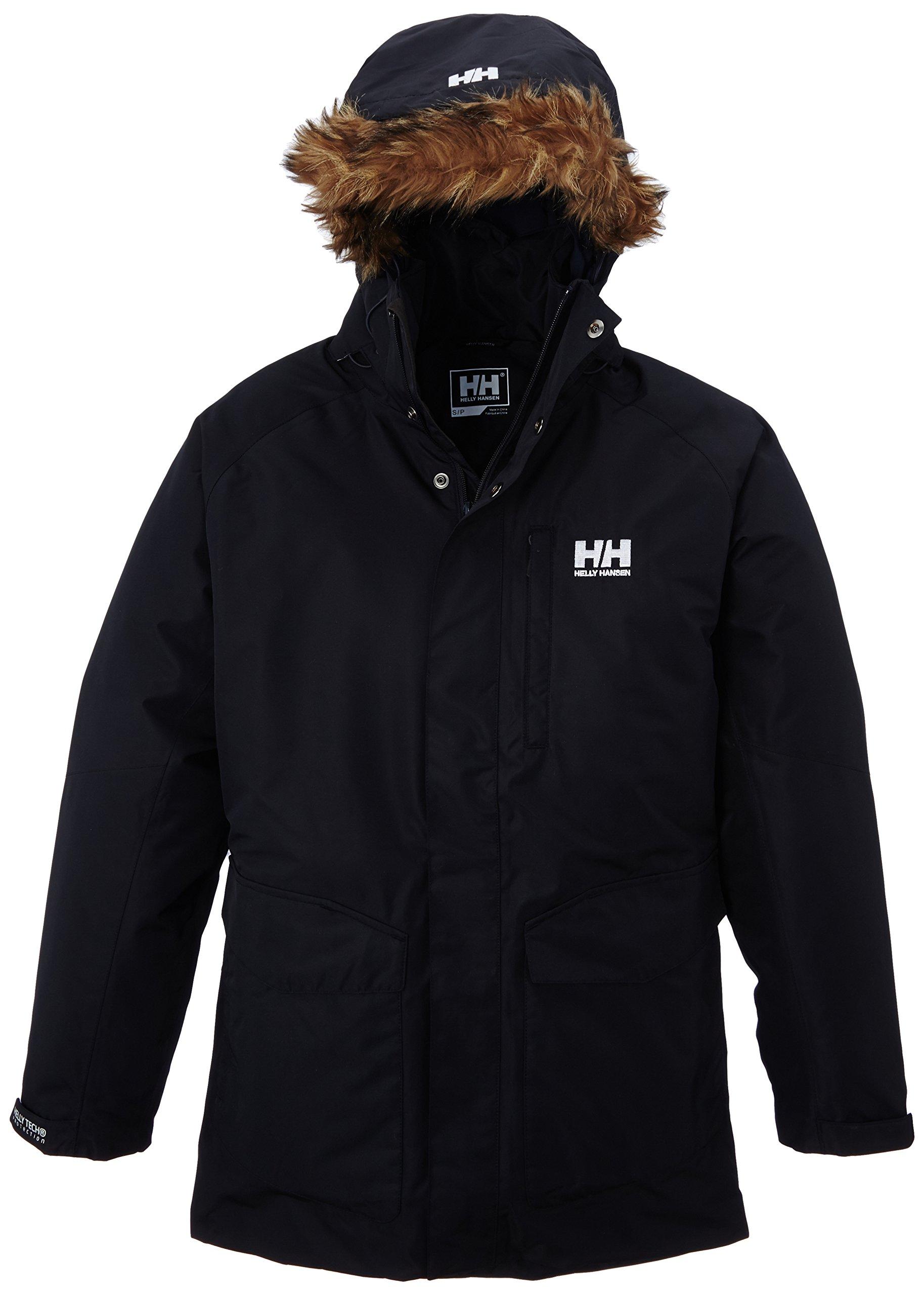 Helly Hansen Men's Dubliner Parka 100 Gram Primaloft Insulated Waterproof Windproof Breathable Rain Coat with Hood, 598 Navy, X-Large by Helly Hansen
