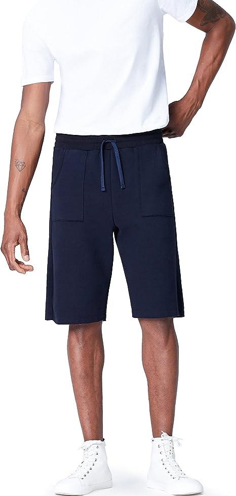 TALLA M. Activewear Fleece Lounge, Pantalón Corto para Hombre