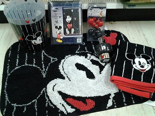 Amazon Com 16pc Disney Mickey Mouse Bathroom Set Home Kitchen