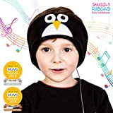 Snuggly Rascals (v2) Kids Headband Headphones - Ultra-Comfortable, Volume Limited and Size Adjustable. (Cotton, Penguin)
