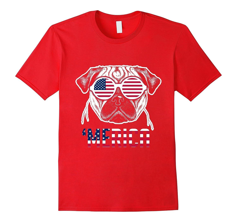 'Merica Cool Dog U.S. Flag Patriotic Shades Shirt-TH