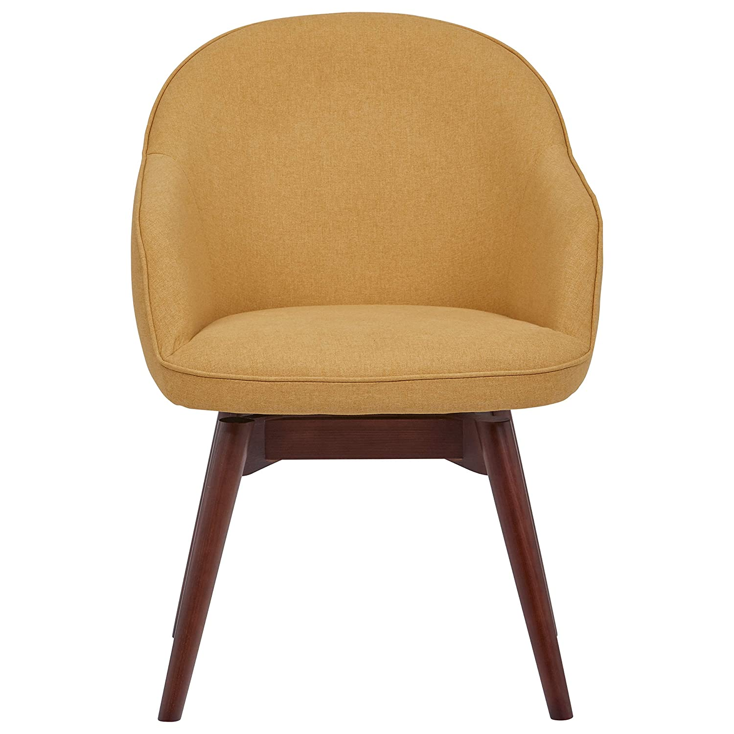 Rivet Vern Contemporary Dining Chair 32 H, Maize Canary