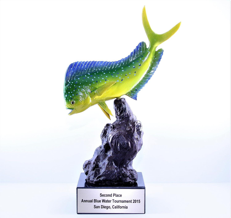 Taxidermy Fiberglass 12 Mahi Mahi Trophy on Base Customizeable