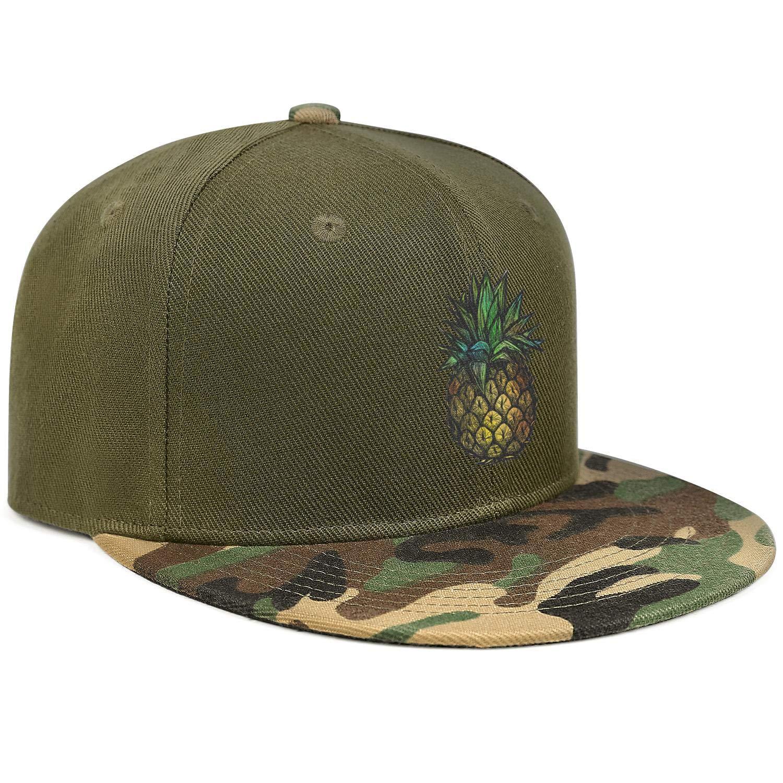 Colorful Pineapple Vintage Drawing Art Unisex Baseball Cap Soft Fit Sport Baseball Hats Adjustable Trucker Caps Dad-Hat