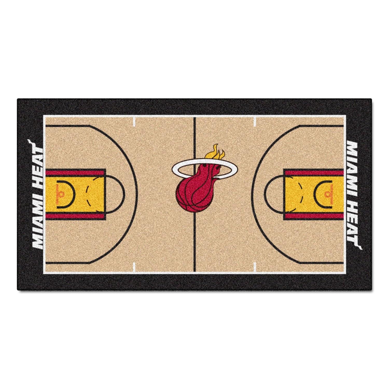 FANMATS  9314  NBA Miami Heat Nylon Face NBA Court Runner-Large