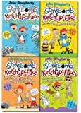 Stinkbomb and Ketchup-Face Collection John Dougherty 4 Books Set (Stinkbomb & Ketchup-Face and the Badness of Badgers, the Quest for the Magic Porcupine, the Evilness of Pizza, the Bees of Stupidity) (A children's book for ages 7-12)