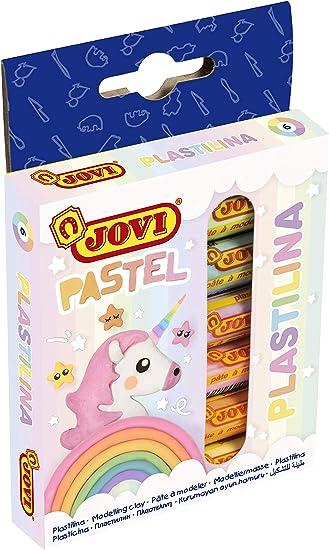Jovi- Pastilla Plastilina Pastel, Color, 50 gramos (90/6P): Amazon.es: Juguetes y juegos